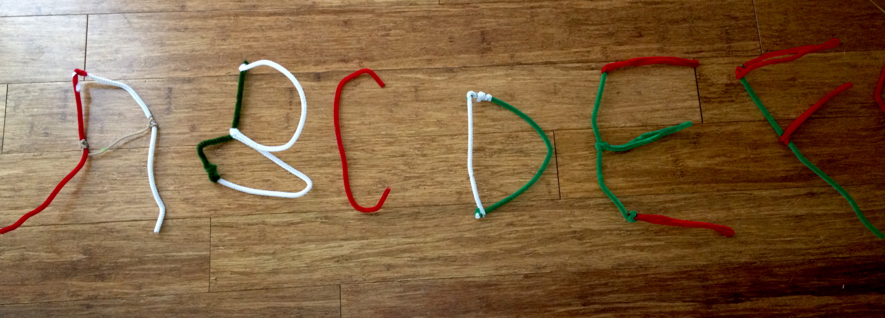 Today to help The Princess work on her letters and letter sounds we made pipe cleaner letters. After completing the entire alphabet we played a game with ... & ABCs | The Booky Mom